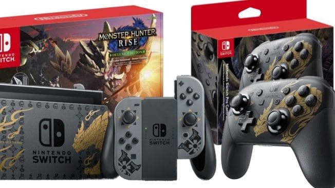 Nintendo Switch Monster Hunter Rise Konsole Pro-Controller