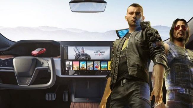 Cyberpunk 2077 Witcher 3 Tesla Elon Musk