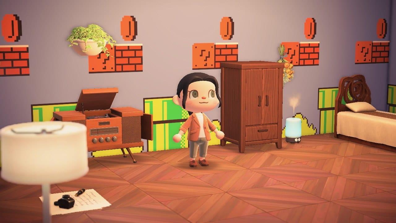 Animal Crossing New Horizons Pilztapete Super Mario
