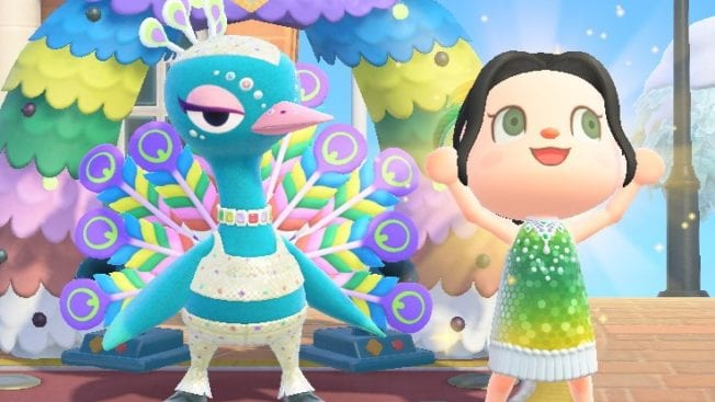 Animal Crossing New Horizons Karneval Pavo