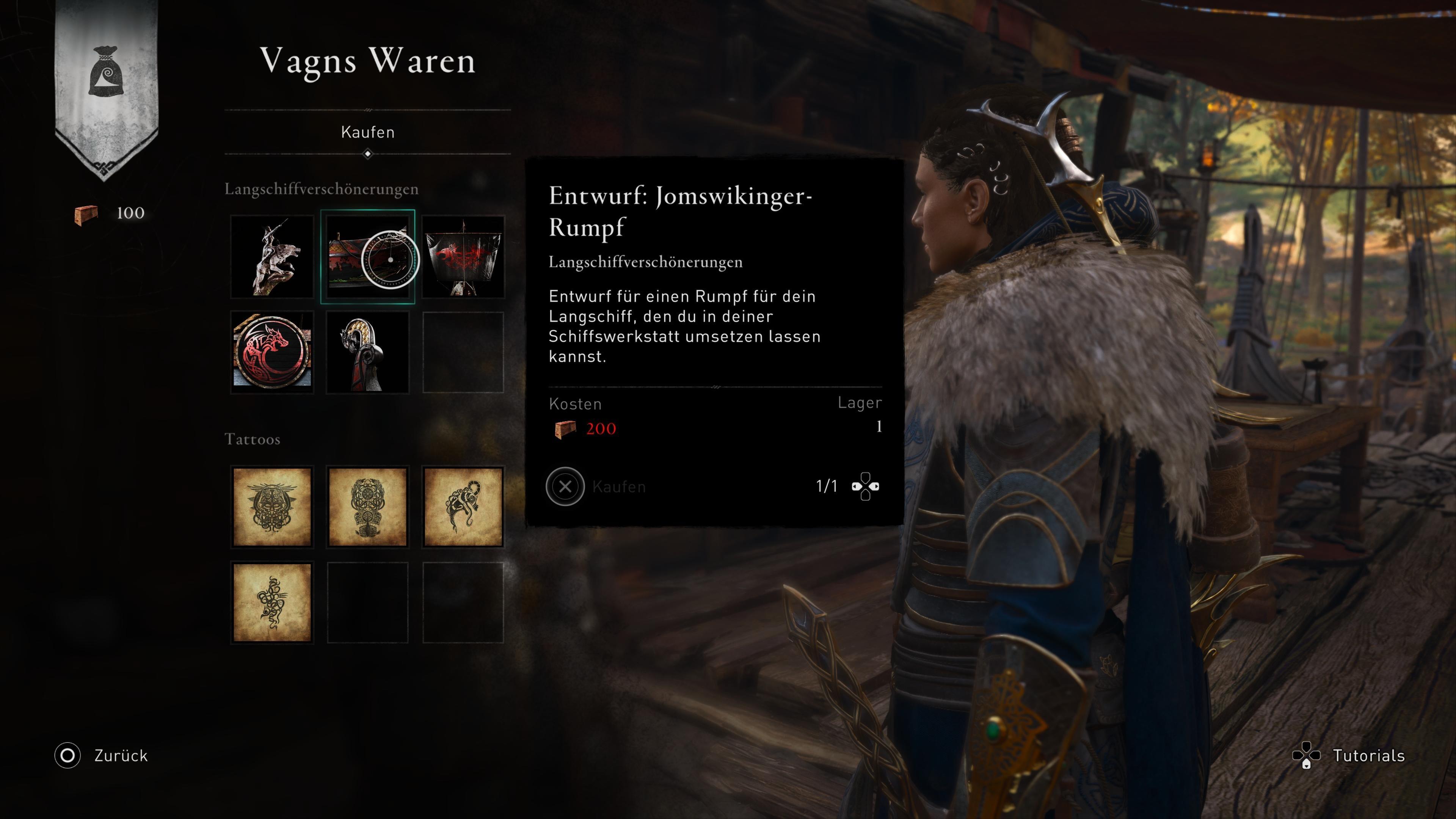 Assassin's Creed Valhalla Vagn Waren Laden