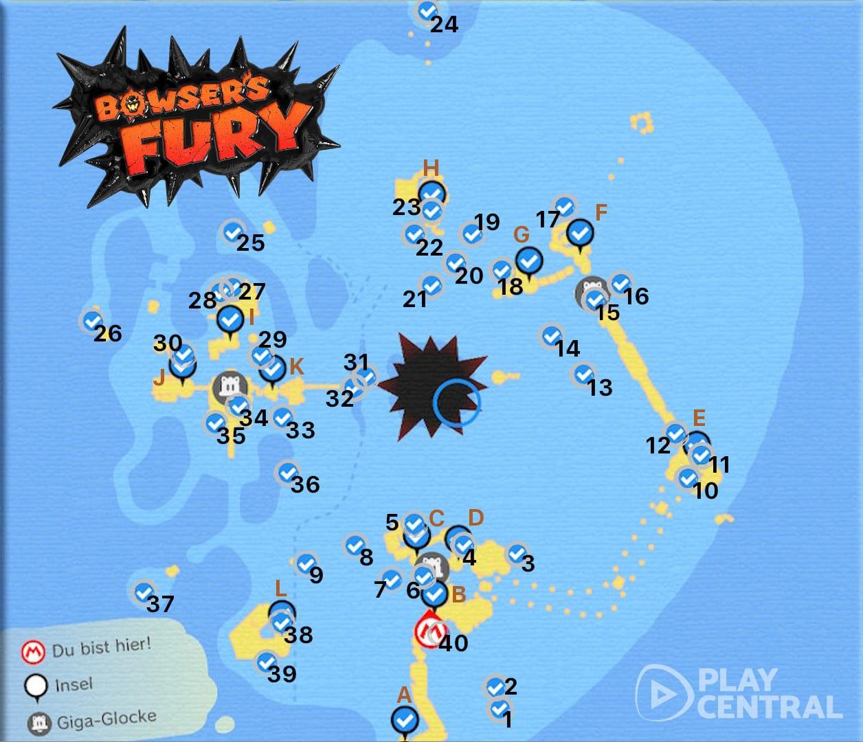Bowser's Fury: Die Fundorte aller 100 Insignien! – Guide (Lösung)