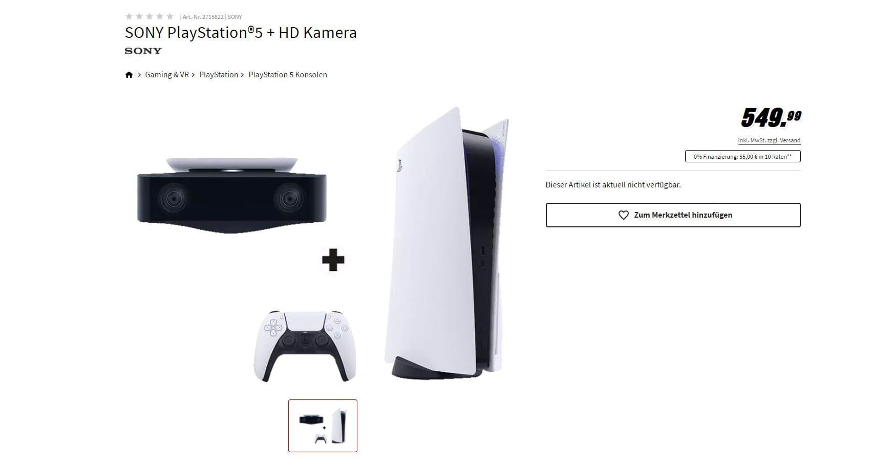 PS5 Bundle HD Kamera