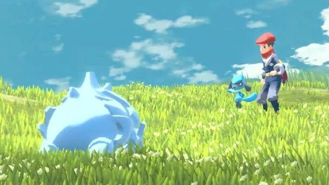 Pokémon Legends Arceus - Bilder von der Open World - Gameplay im Kampf