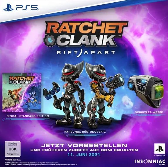 Ratchet Clank Rift Apart Pre Order Bonus