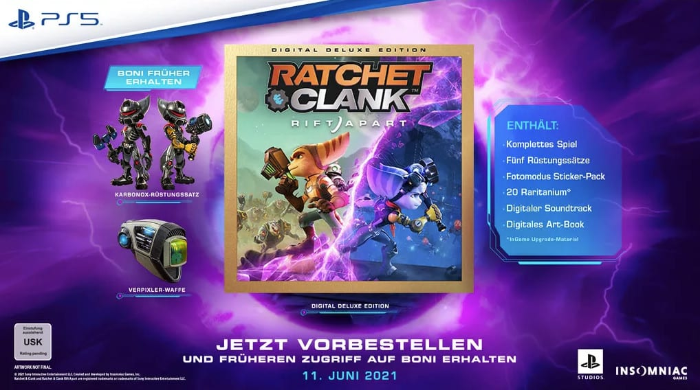 Ratchet Clank Rift Apart PS5 Digital Deluxe Edition