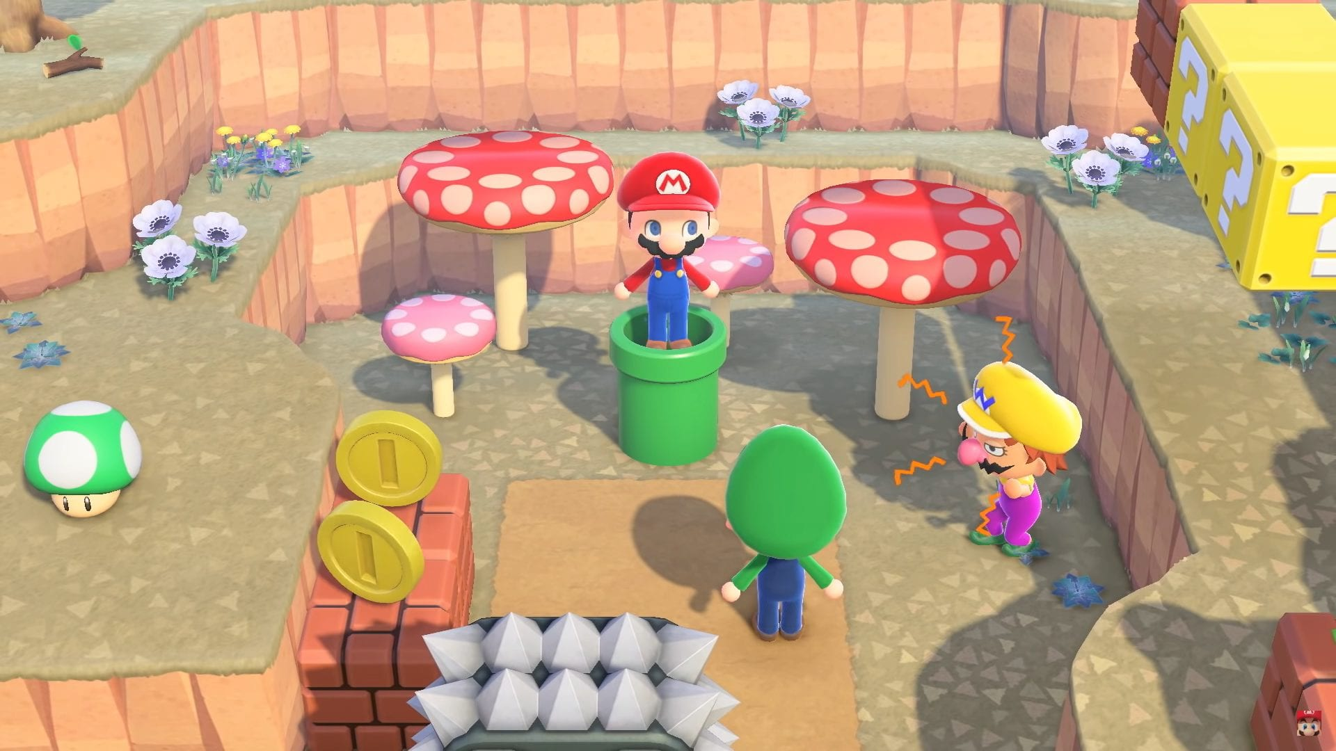 Animal Crossing ACNH Super Mario Bros.