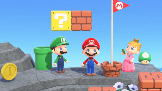 Animal Crossing New Horizons Super Mario Bros.