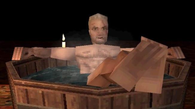 The Witcher 3 - Bad (Geralt) auf PS1 nachgestellt