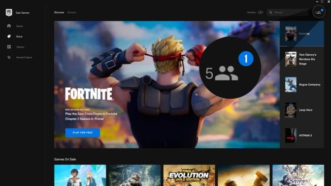 Epic Games Store Social Update
