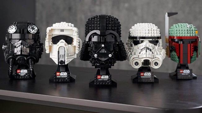 LEGO Star Wars - alle Helme Sammlung