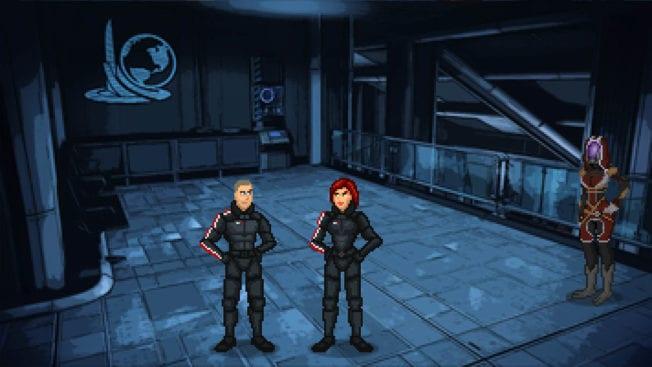 Mass Effect - Pixel-Art-Spiel mit Tali und Shepard