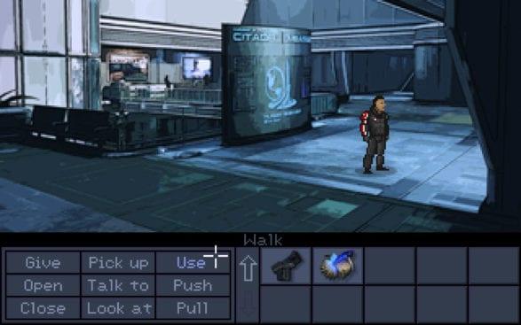 Mass Effect - Pixel-Art-Spiel wie LucasArts