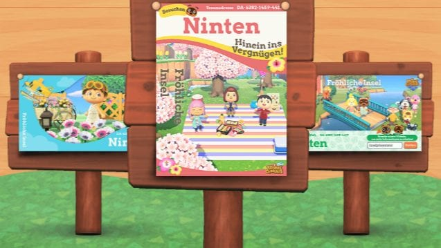 Animal Crossing New Horizons Insel Poster