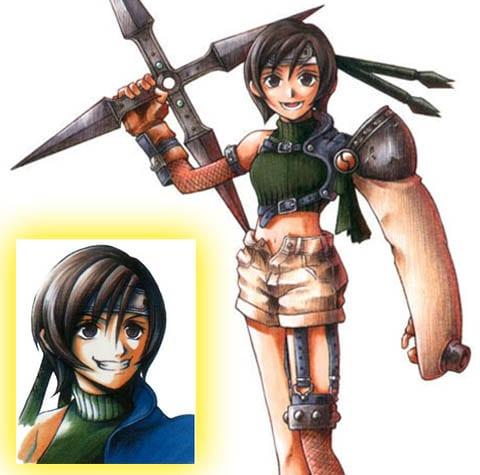 Yuffie in Final Fantasy VII