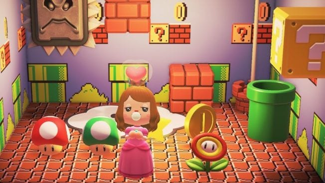 Animal Crossing New Horizons Super Mario Teleportieren