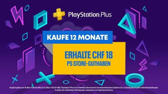 PS Plus - 12 Monate plus Guthaben - Schweiz