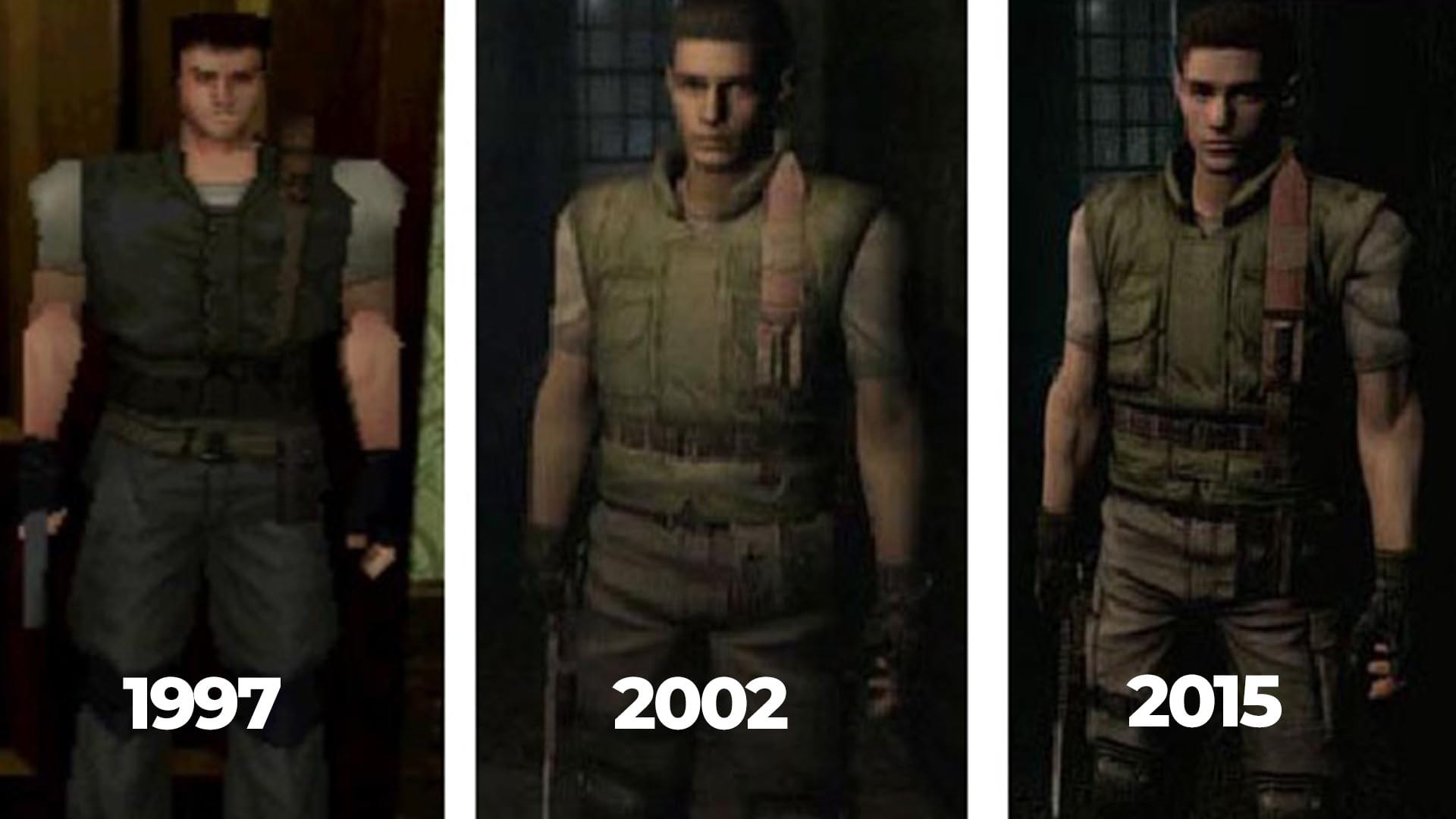 Chris Redfield in der Evolution