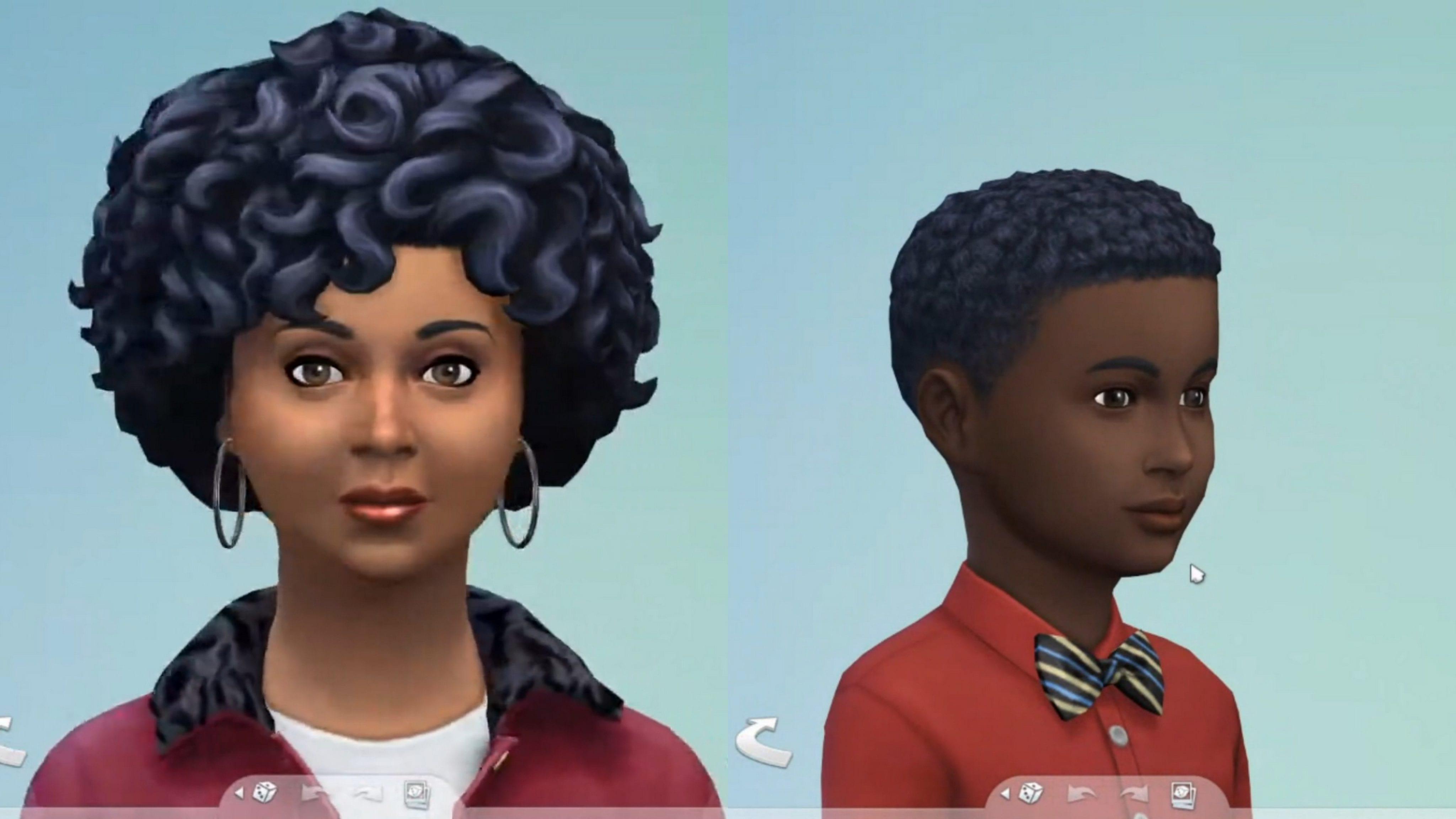 Sims 4 Frisuren Afro