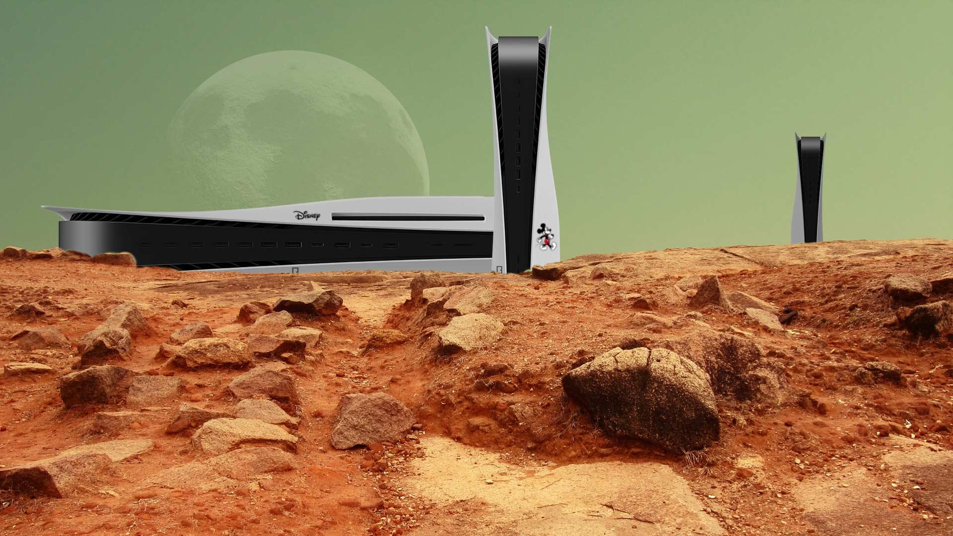 Disney-Raumstation auf dem Mars