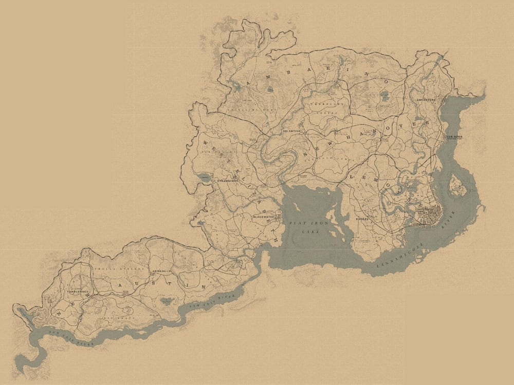 Red Dead Redemption 2 Karte Map