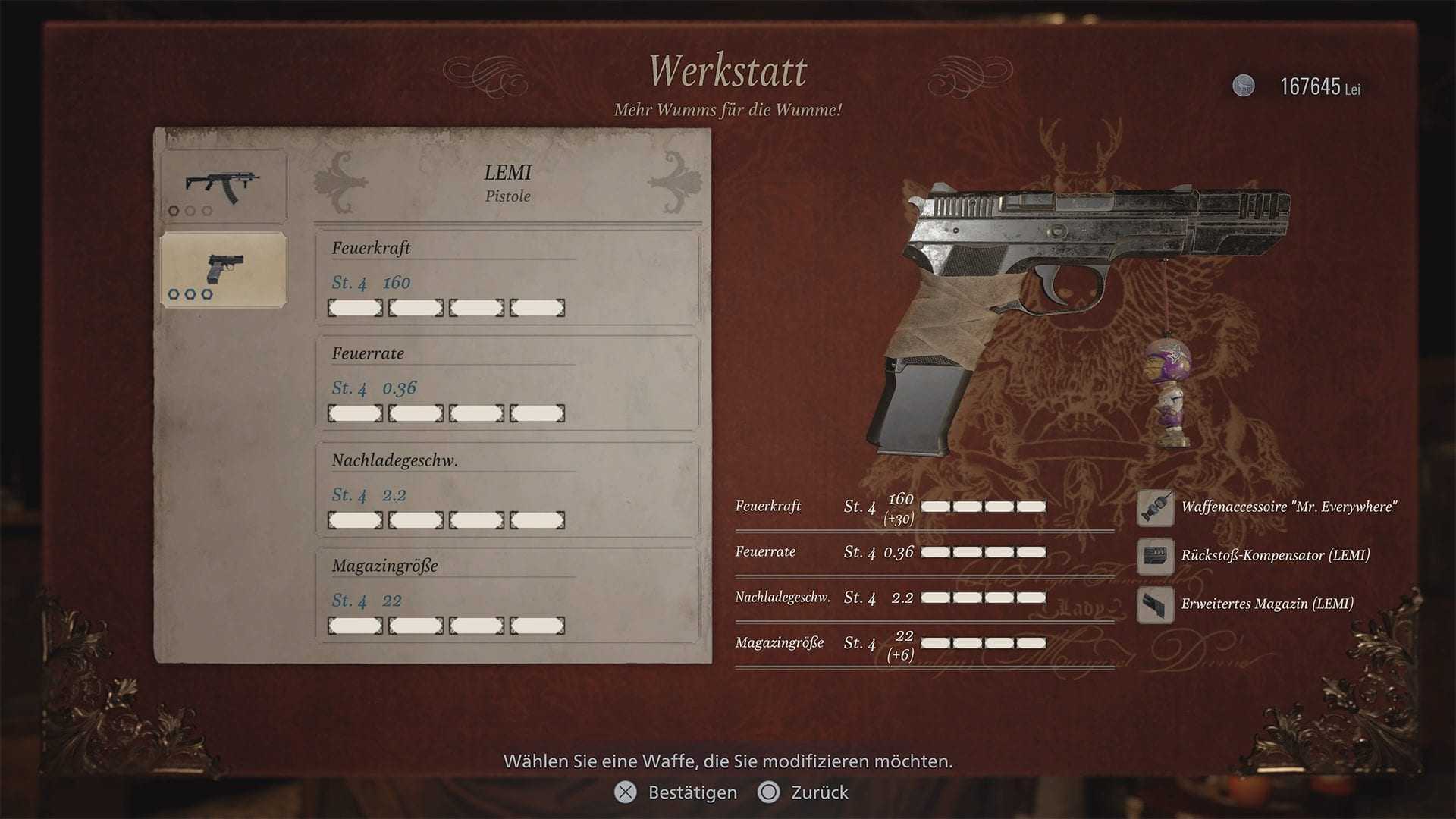 Resident Evil 8 - Lemi voll ausgerüstet