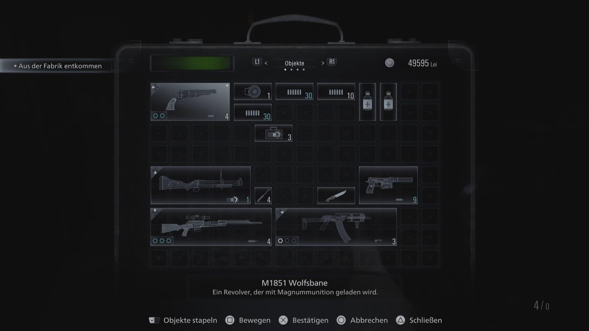 Resident Evil 8 - Inventar