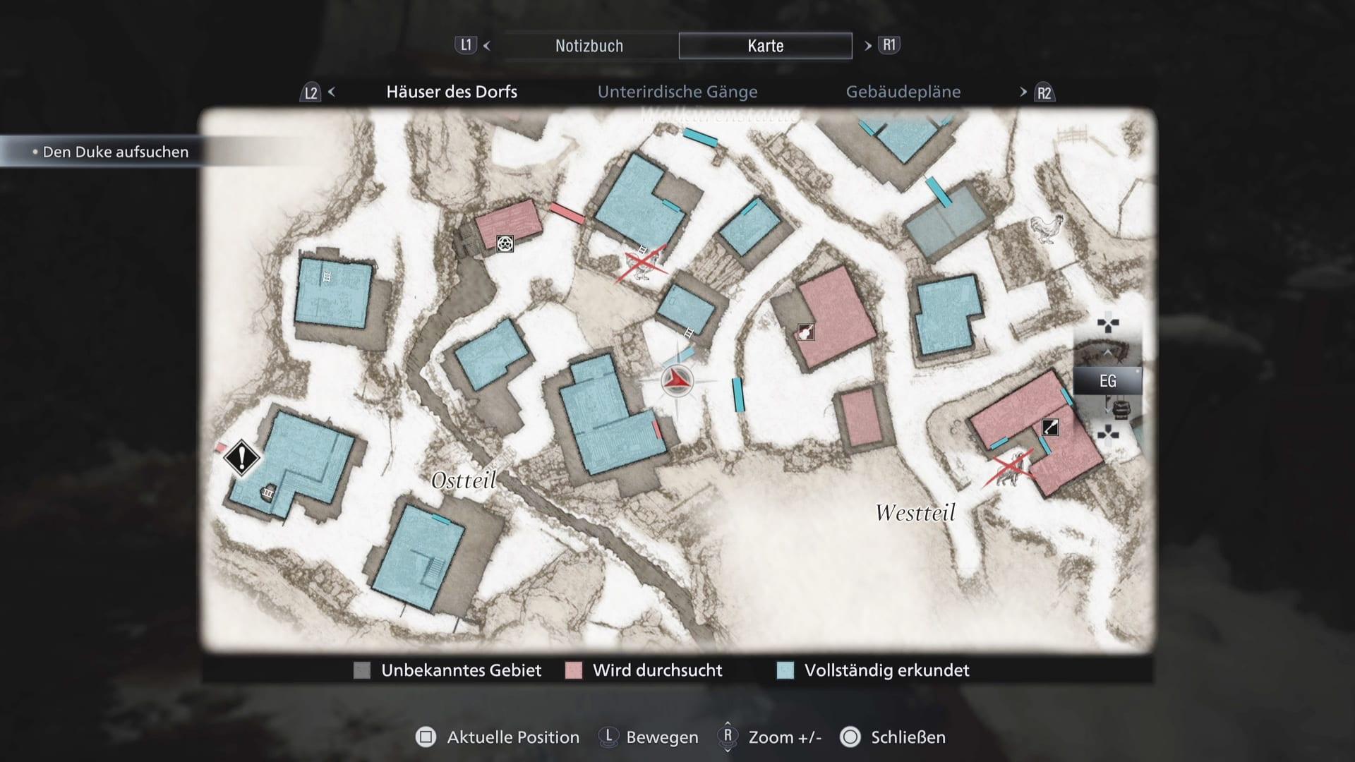 Resident Evil 8 - Karte