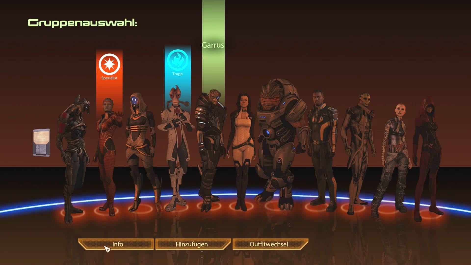 Mass Effect 2 - Lösung - letzte Mission - Anführer auswählen