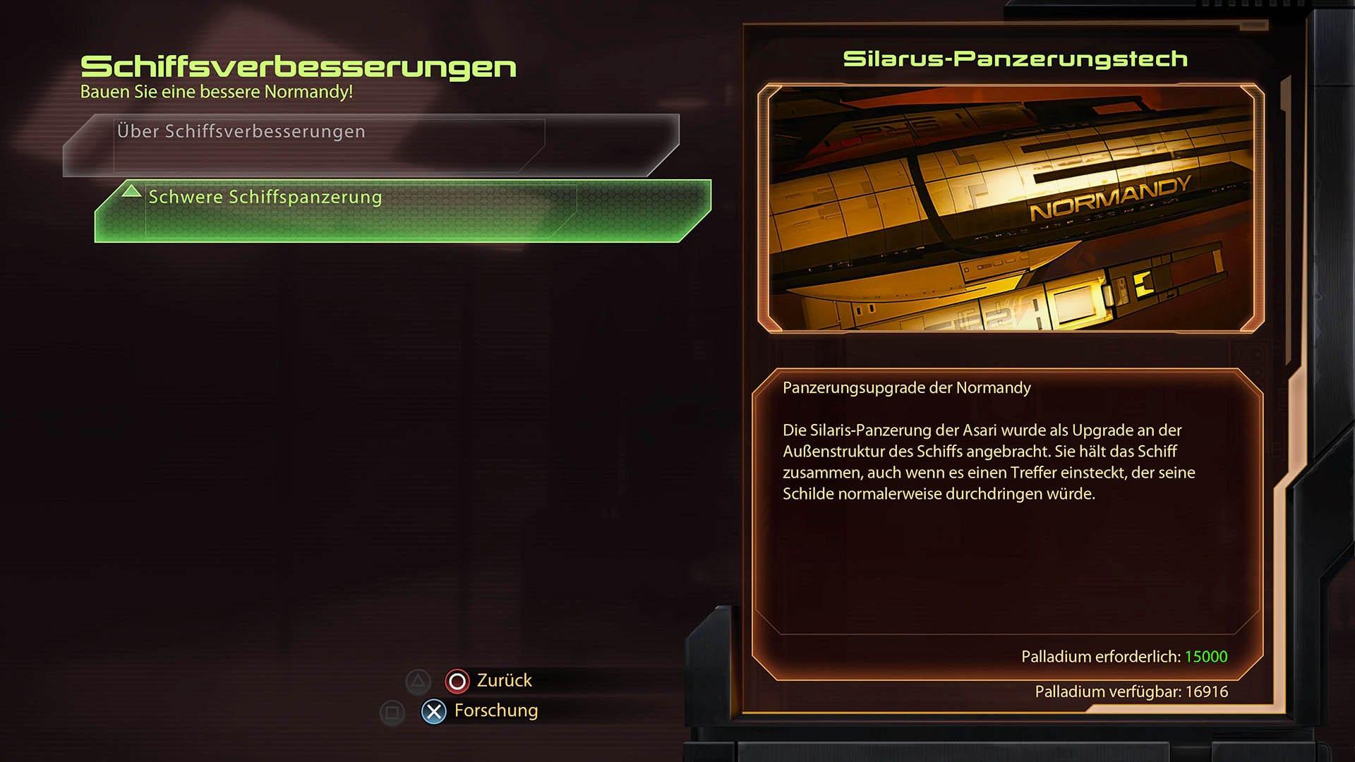 Mass Effect 2 - Lösung - letzte Mission - Silarus-Panzerungstech