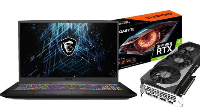 Gaming-Notebooks mit RTX 3080