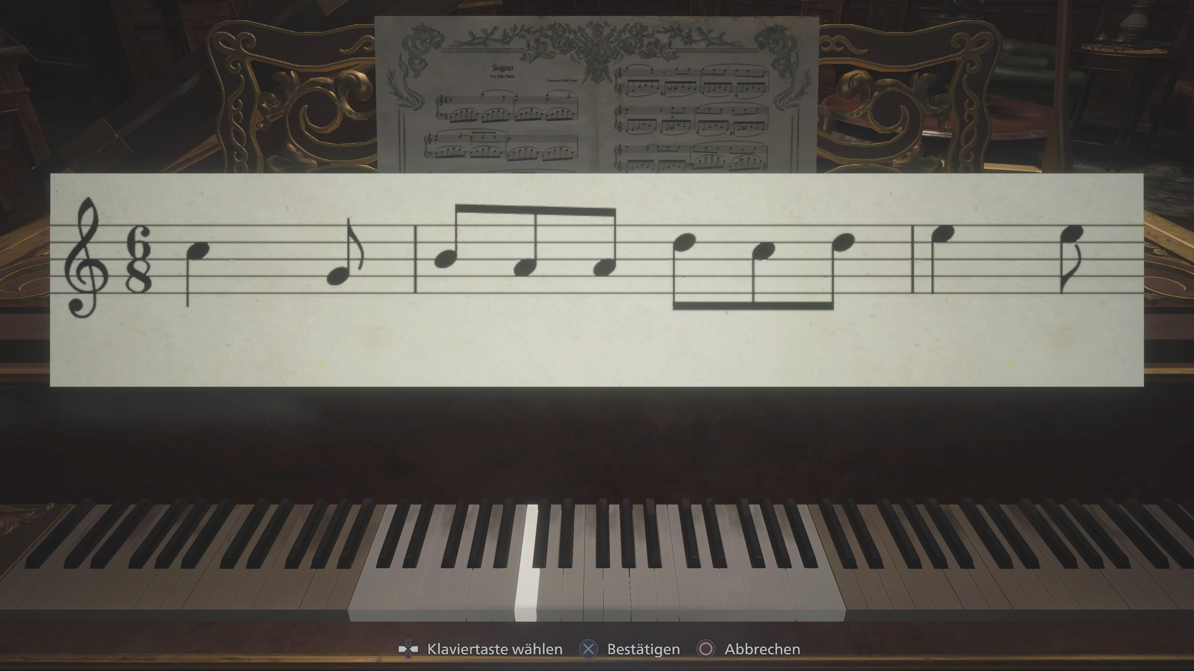 Resident Evil 8: Test (Piano-Rätsel)