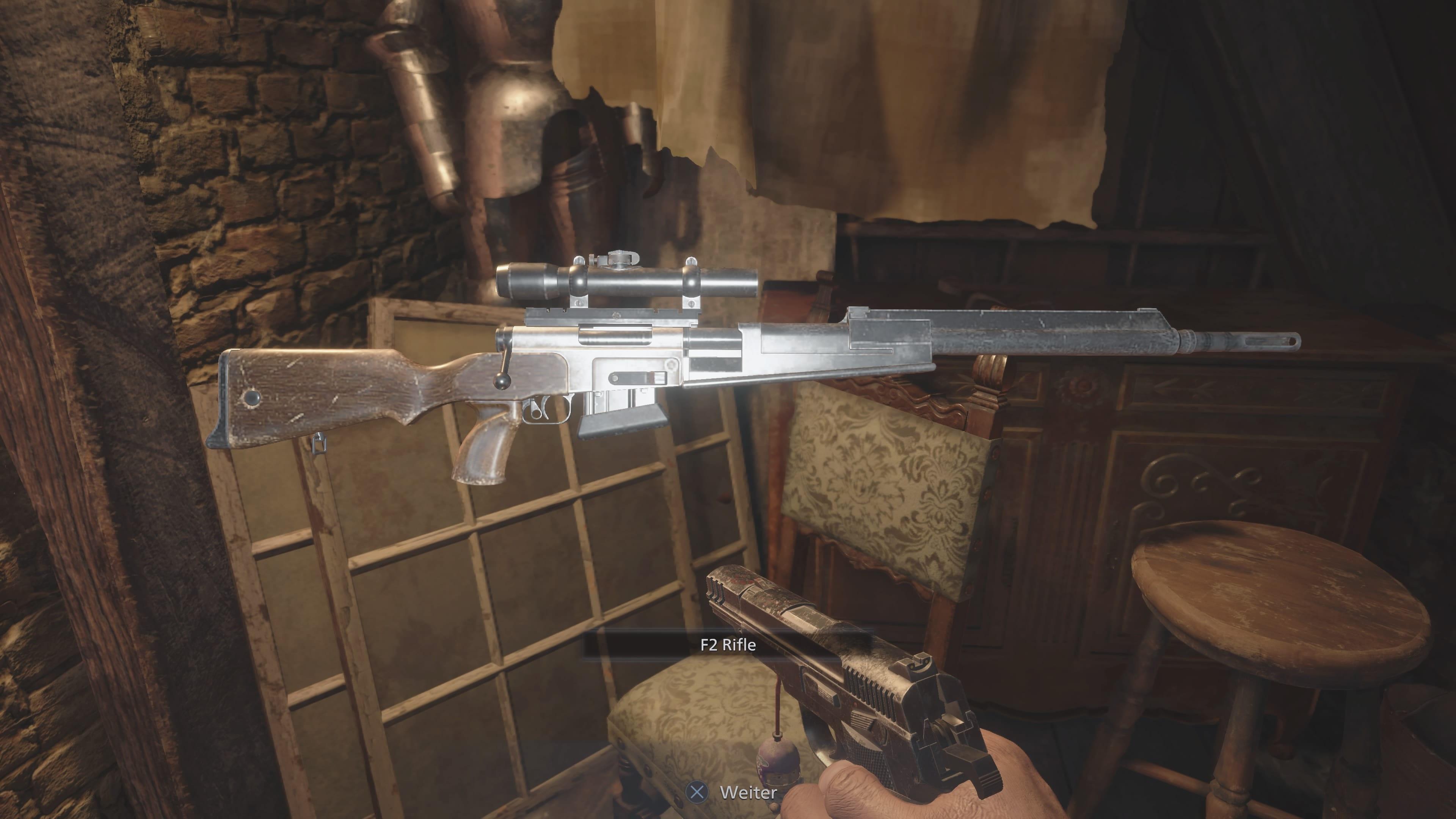 Resident Evil 8: Fundort der F2 Rifle (Lösung)