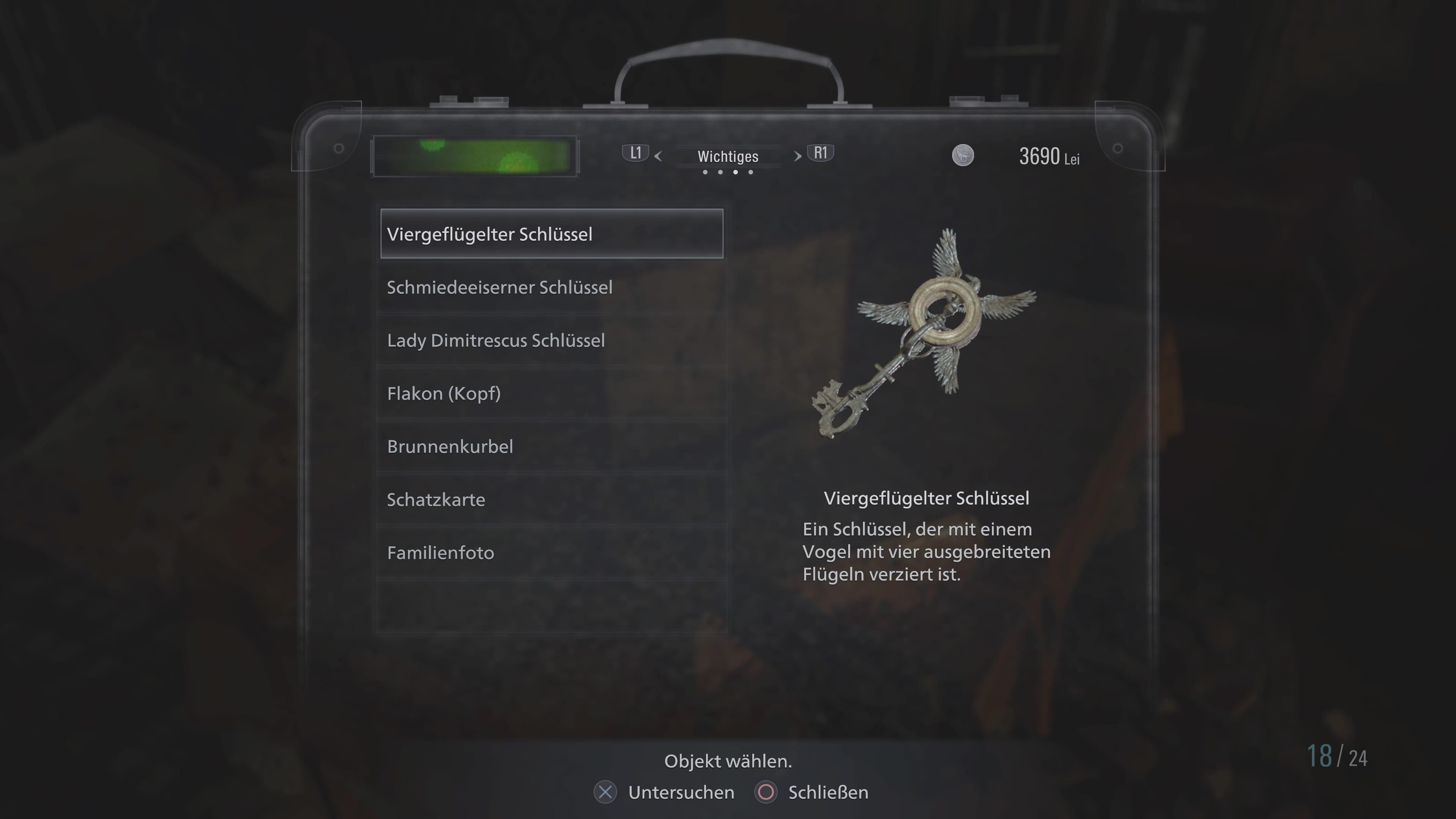Resident Evil 8: Viergeflügelter Schlüssel (Lösung)
