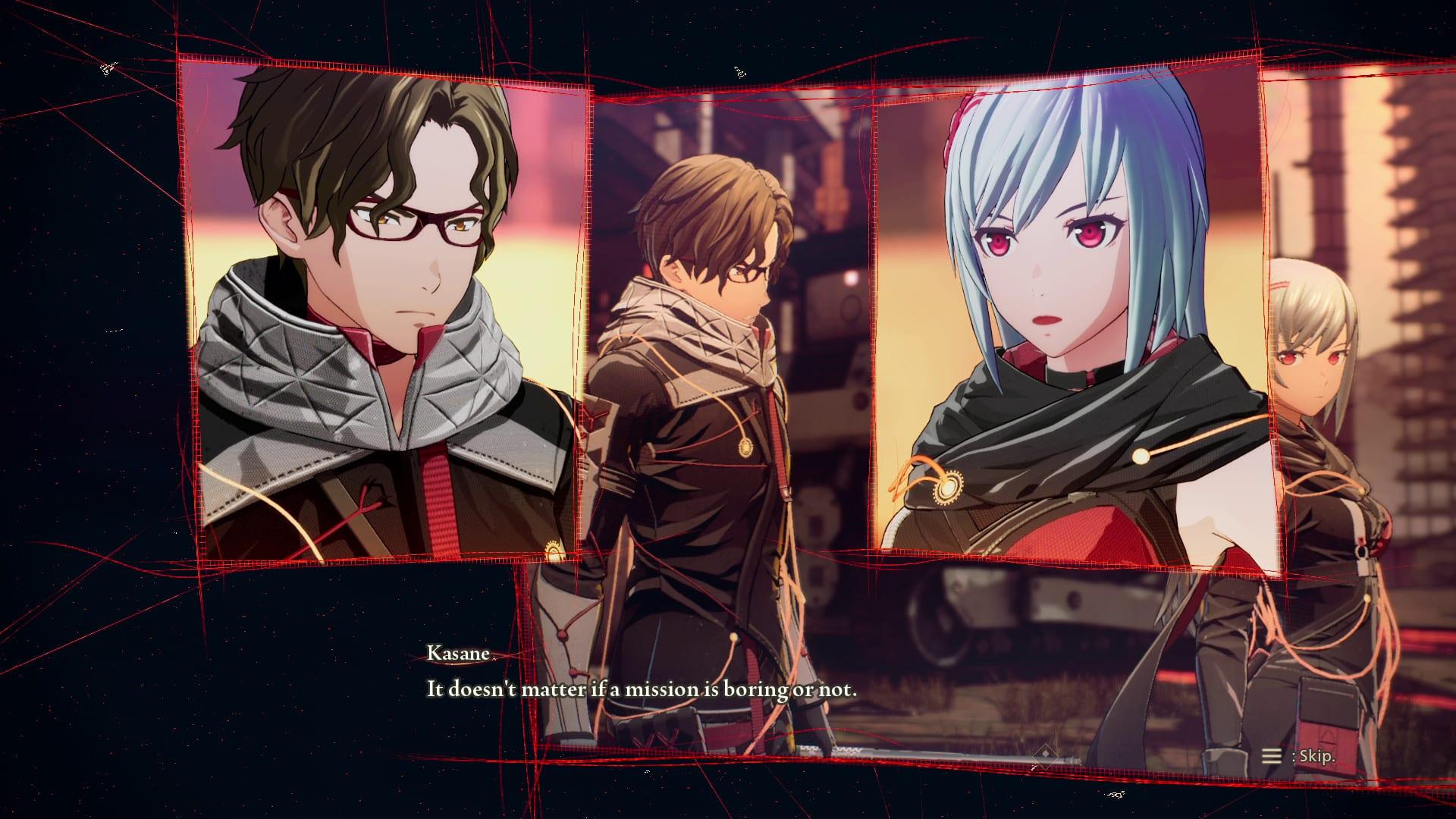Scarlet Nexus Dialog