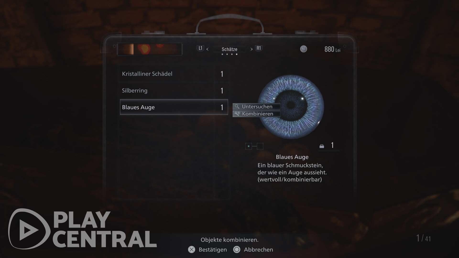 Resident Evil 8 - kombinierbare Schätze