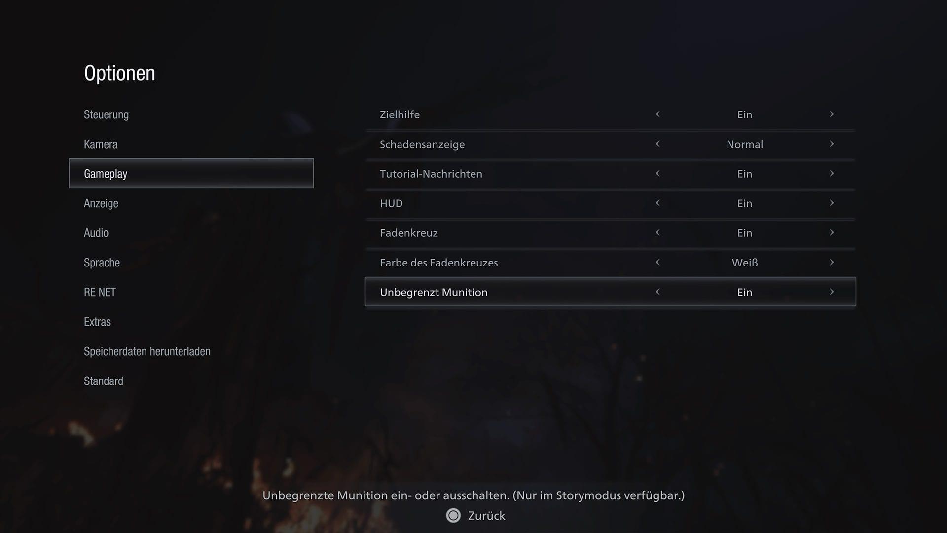 Resident Evil 8 - Cheats deaktivieren