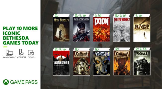 Xbox Game Pass - 10 Bethesda-Spiele