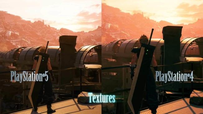Final Fantasy 7 Remake Intergrade - Neue Texturen im Hintergrund.