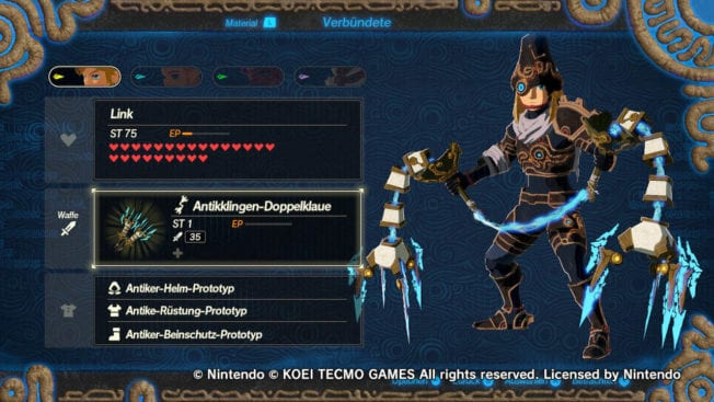 Hyrule Warriors - Zeit der Verheerung - DLC 1 - neue Waffen Doppelklaue