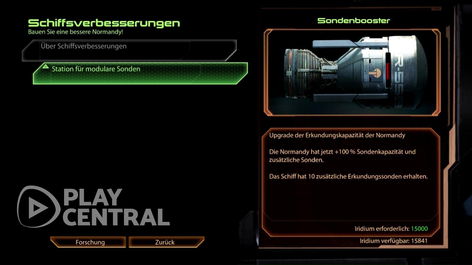 Mass Effect 2 - Sonden - Upgrade
