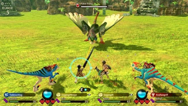 Monster Hunter Stories 2 - Kampf