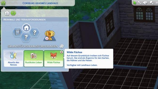 Sims 4 Grundstücksherausforderungen