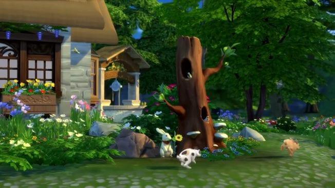 Die Sims 4 Landhaus-Leben Vögel