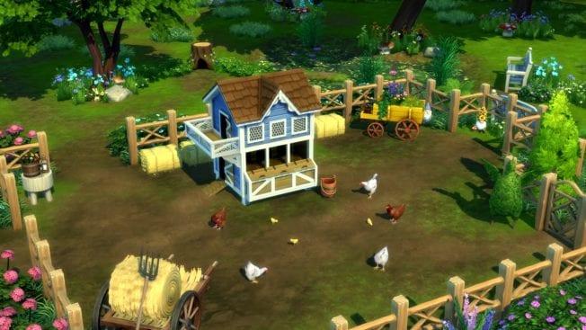 Die Sims 4 Landhaus-Leben Hühner