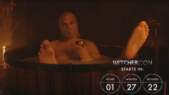 Maul Cosplay The Witcher Geralt Badewanne