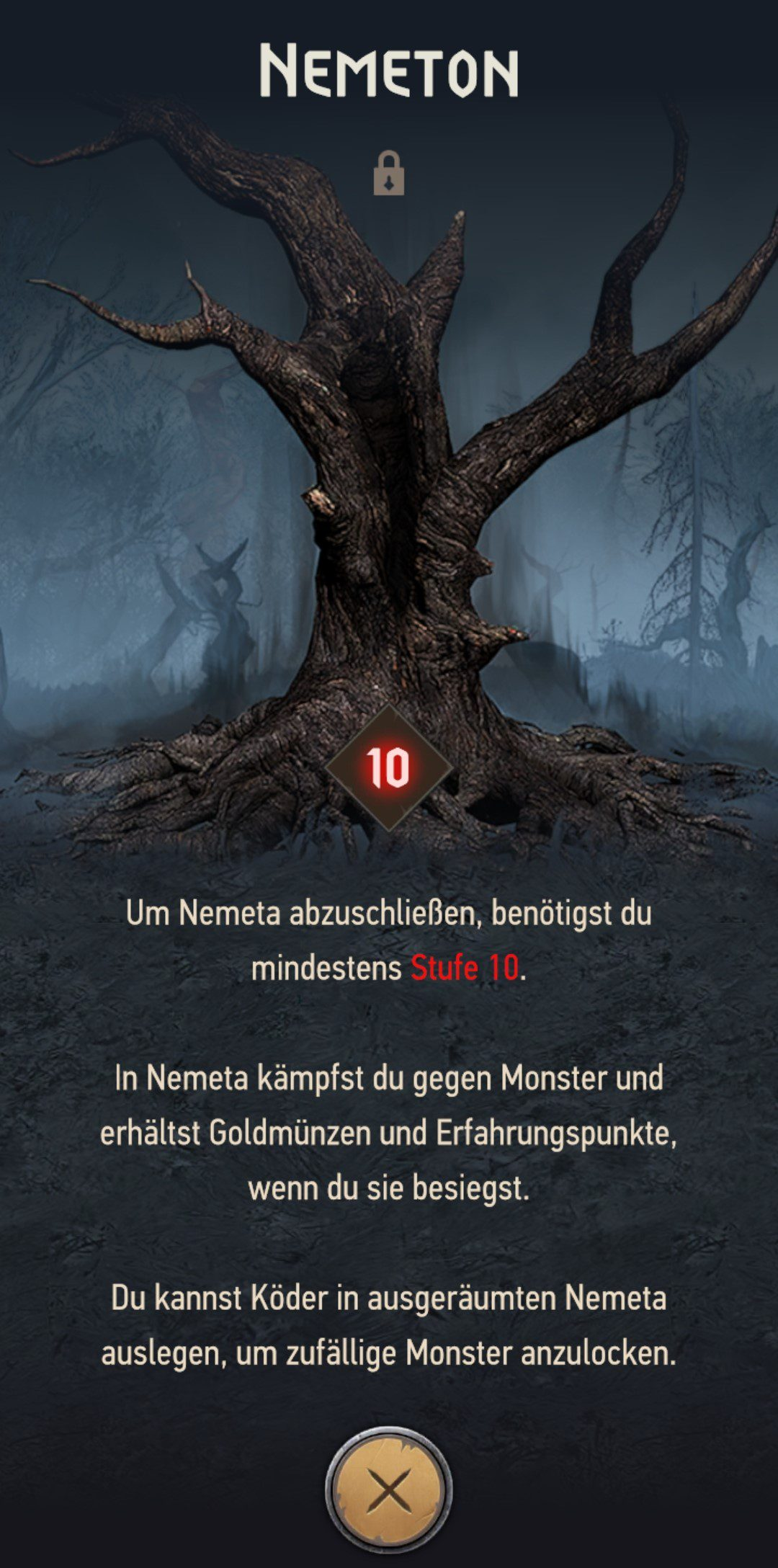 The Witcher Monster Slayer Arena Nemeta