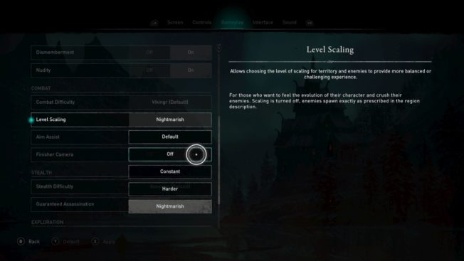Assassin's Creed Valhalla Levelskalierung