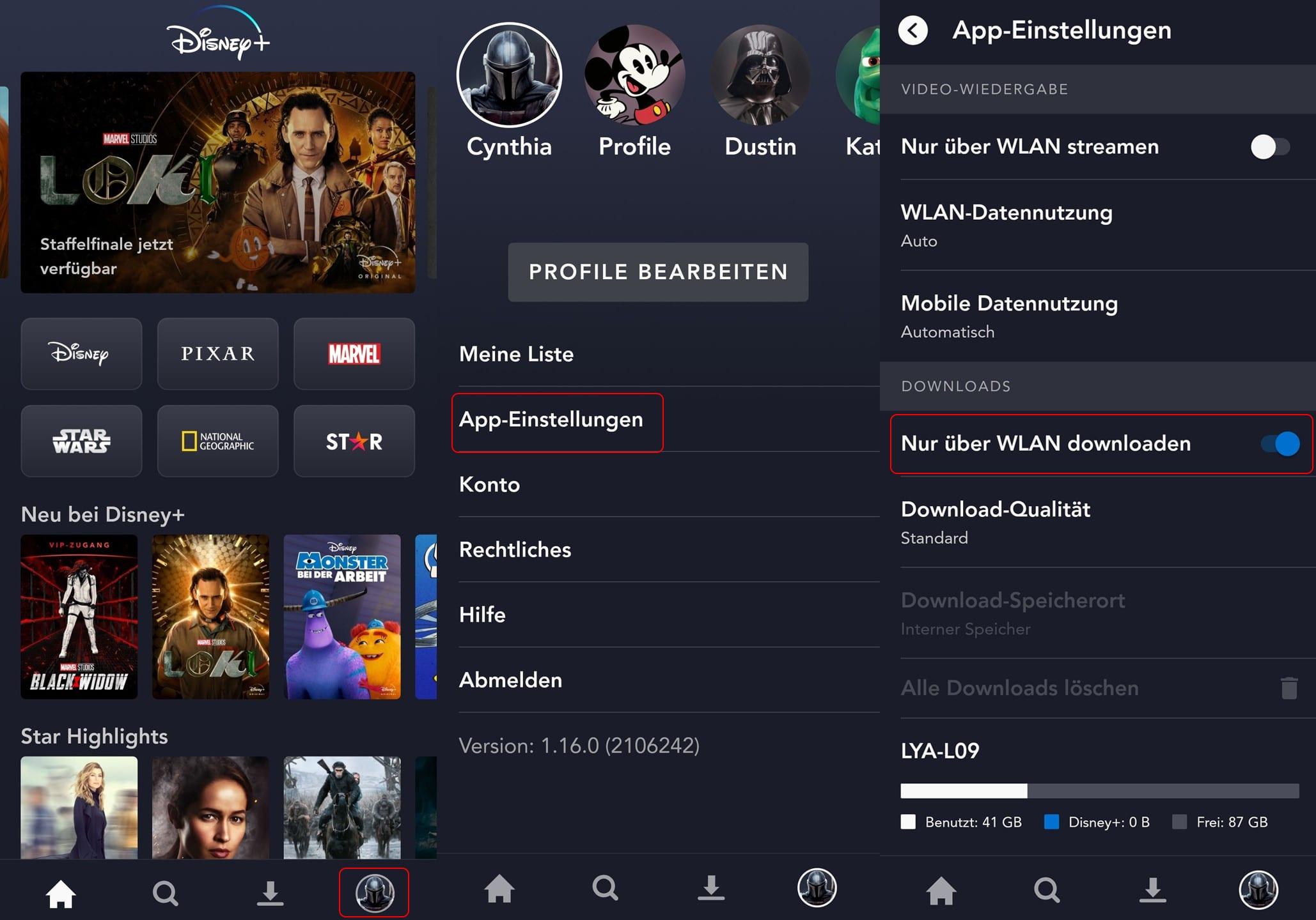 Disney Plus Download WLAN