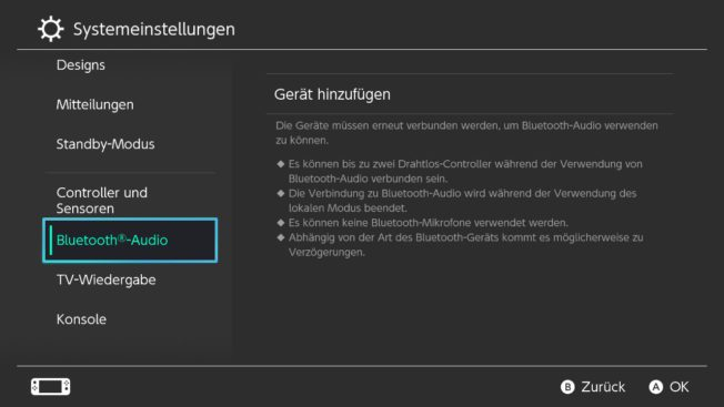 Nintendo switch Bluetooth Audio verbinden